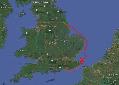 Hull to Brighton