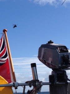 The Apache following us was slightly more worrying....