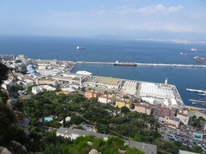 Looking over Upper Town and Gibraltar Bay